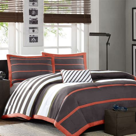grey twin comforter set twin twin xl comforter set in dark gray orange white
