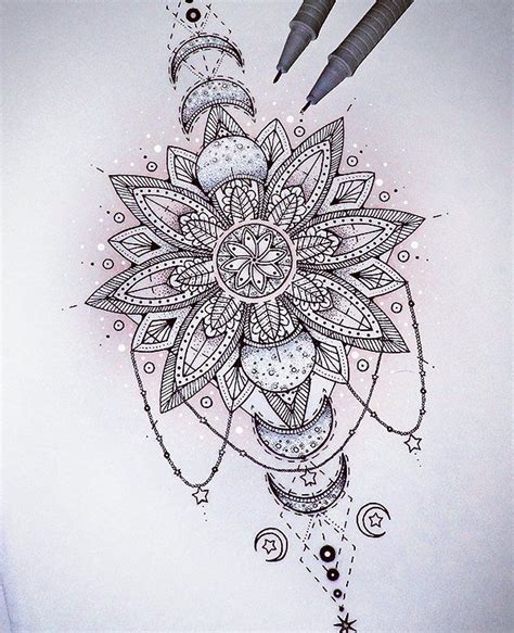 saphiriart on instagram mandala eclipse tattoo design