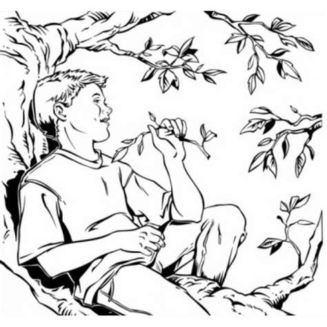 immagini di sull albero disegno di bambino sull albero da colorare per bambini