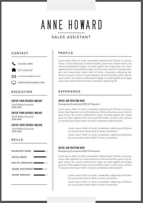 modern application letter template the best modern resume templates for 2016