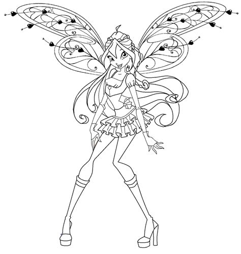 winx club believix coloring pages free coloring pages of believix