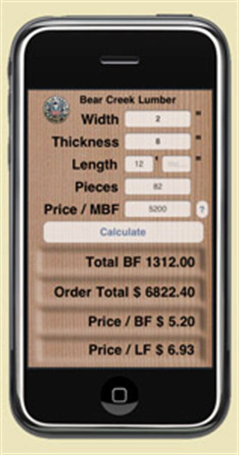 Bear Creek Lumber Lumber Iphone Apps Released By Our Company