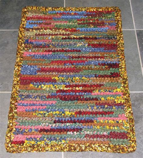 how to crochet a rag rug for beginners crocheted cotton fabric rag rugs rugs