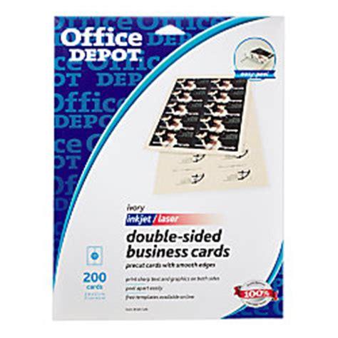 Office Depot Enterprise Office Depot Brand Sided Business Cards 2 X 3 12