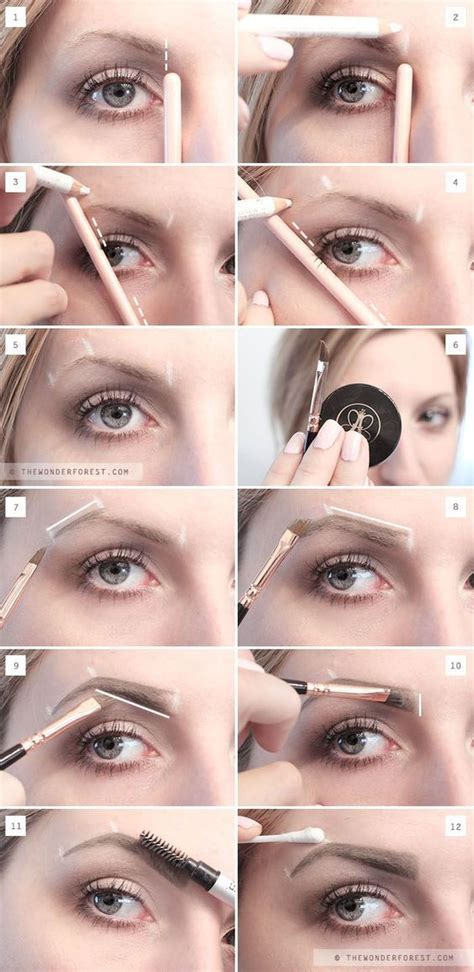 colored brows 10 ways to get pretty eye brows pretty designs