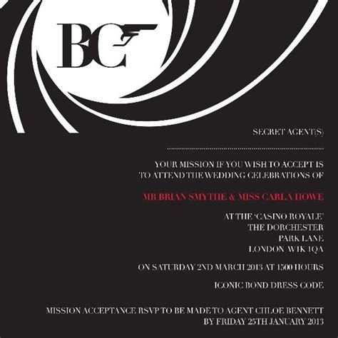 themes by james liberation code james bond theme maybe for bachelorette party it would