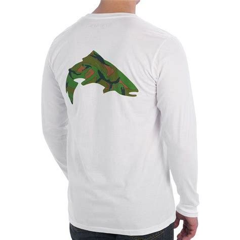 T Shirt Simms White simms riffle trout t shirt l s fishing color white
