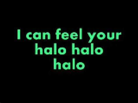 testo halo beyonce your test