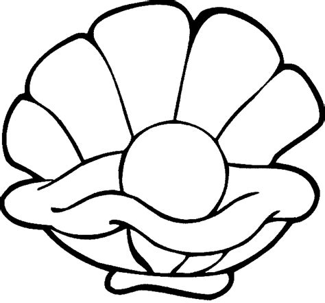 free coloring pages of clam shell