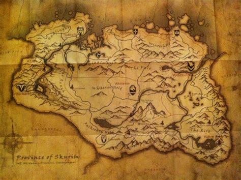 map of skyrim skyrim map outravelling maps guide