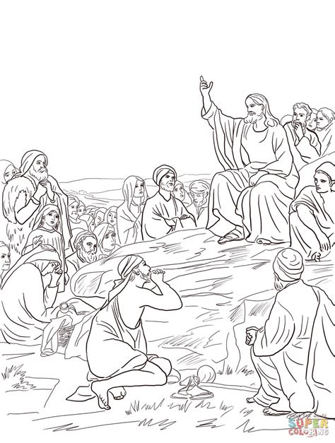 Matthew 7 Coloring Pages by Jesus Giving The Sermon On The Mount By Carl Bloch