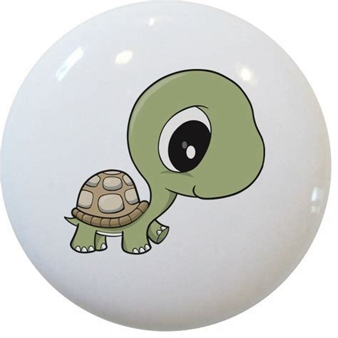 baby turtle big ceramic cabinet drawer knob cabinet