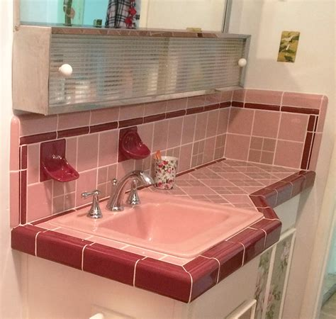 pink and burgundy bathroom reversing a bland big box remuddle dana builds a vintage
