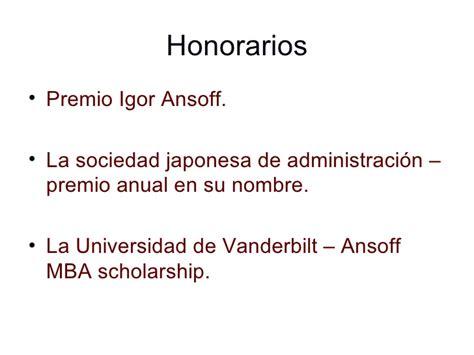 Vanderbilt Mba Scholarship by La Aparici 243 N De La Estrategia Empresarial