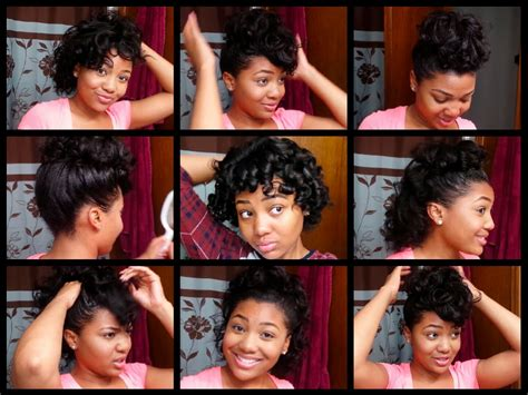 Hairstyle For Black With Relaxed Hair by 7 Easy Hairstyles For Relaxed Hair Styles For Curled Hair