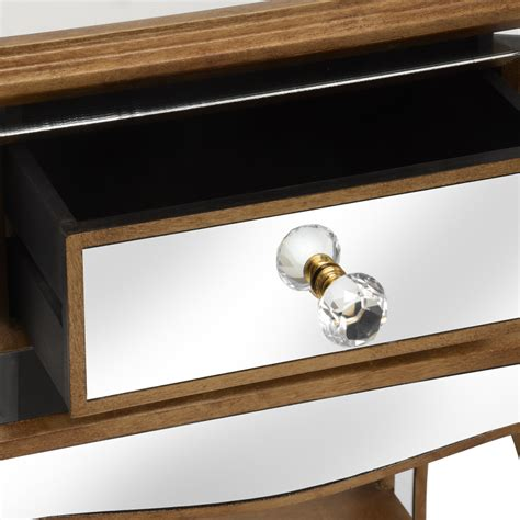 mirrored side table with drawer venetian mirrored side table with drawer