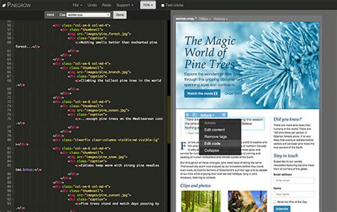 web design code editor pinegrow web designer