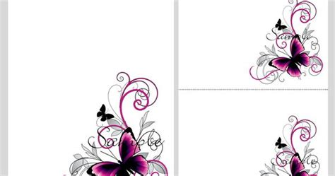 Blank Wedding Invites Pink Paper by Pretty Pink Black Butterflies Blank Invitation
