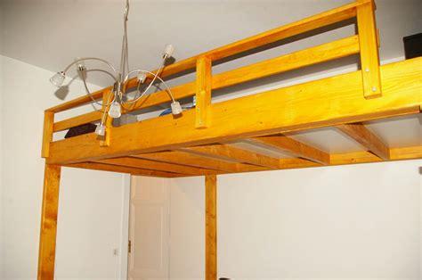 fabriquer un lit mezzanine table de lit