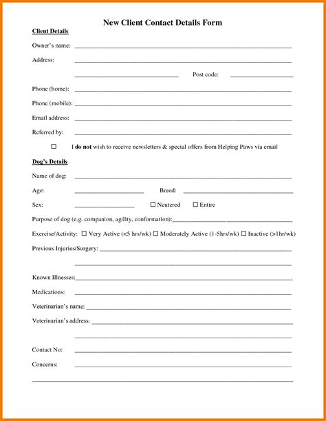 Customer Information Letter Customer Information Form Template Authorization Letter Pdf