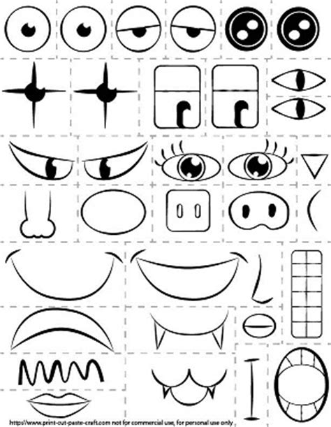 faces of emotion printable printable kids activity make a face exploring emotions