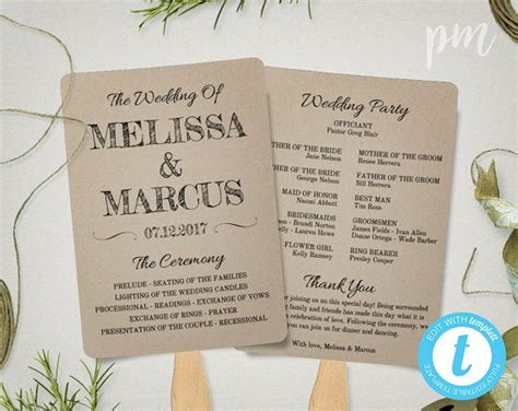 wedding programs fans templates free wedding program templates wedding program ideas
