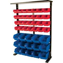 Tool Storage Rack by Performance Tool Half Bulk Bin Storage Rack 47 Bins