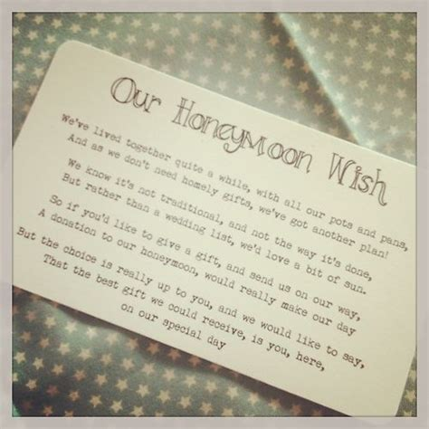 bridal shower honeymoon registry wording 25 best ideas about wedding gift poem on honeymoon fund wedding gifts wedding gift