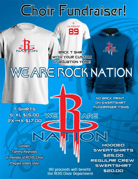 We Are Rock Nation Rockcastle County Schools T Shirt Fundraiser Flyer Template