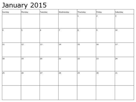 Jan 2015 Calendar 2015 January Calendars
