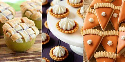 mini fall desserts miniature dessert recipes