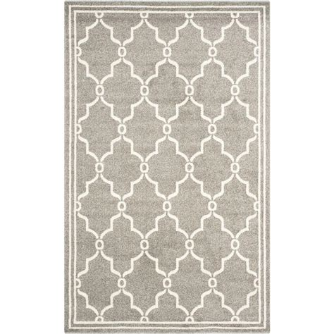 Outdoor Rug 6 X 9 Safavieh Amherst Gray Beige 6 Ft X 9 Ft Indoor Outdoor Area Rug Amt414r 6 The Home Depot