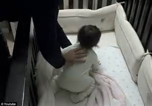 baby refuses to sleep in crib shows climbs into baby s cot to stop from