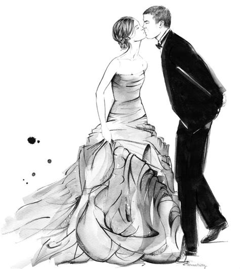 Wedding Drawing by Wedding Illustrations Commissions And In Particular