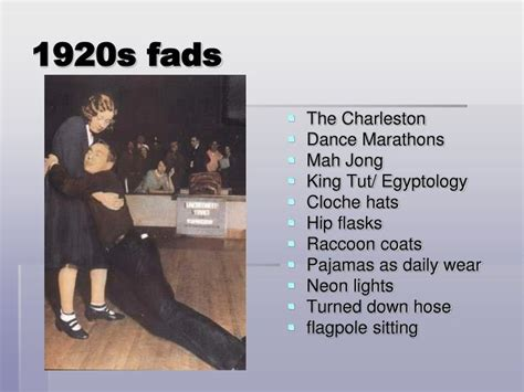 flaming youth fads of the 1920 s ppt the roaring 20s powerpoint presentation id 3764856