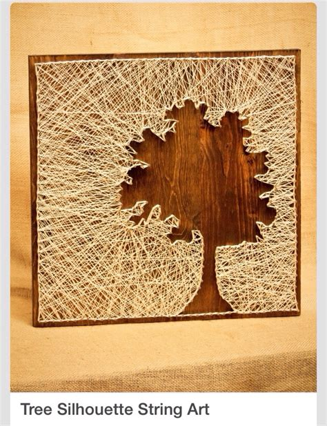 String On Wood - amazing diy tree silhouette string art trusper
