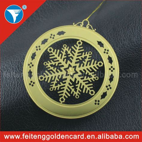 2014 personalized wholesale metallic xmas decors round