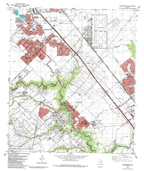 map of friendswood texas friendswood topographic map tx usgs topo 29095e2
