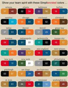 nfl colors nfl football team color chart so find your city name
