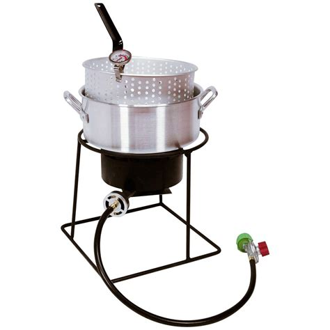 Cing Cooker With Grill by King Kooker 174 12 Quot Outdoor Cooker With Aluminum Fry Pan
