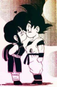 Imagenes Goku Y Milk Besandose   goku y milk besandose