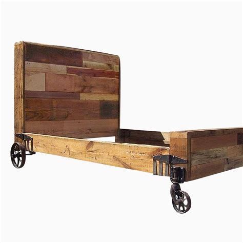 bed on wheels buy hand crafted steunk bed from reclaimed wood and