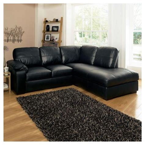 black leather corner sofas buy ashmore leather corner sofa black right hand facing