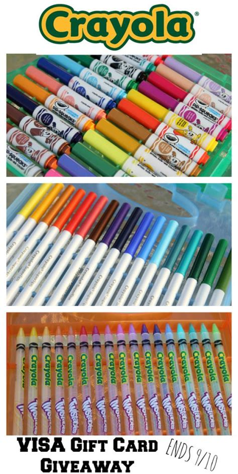 Are Visa Gift Cards Traceable - crayola back to school haul gift card giveaway it s gravy baby