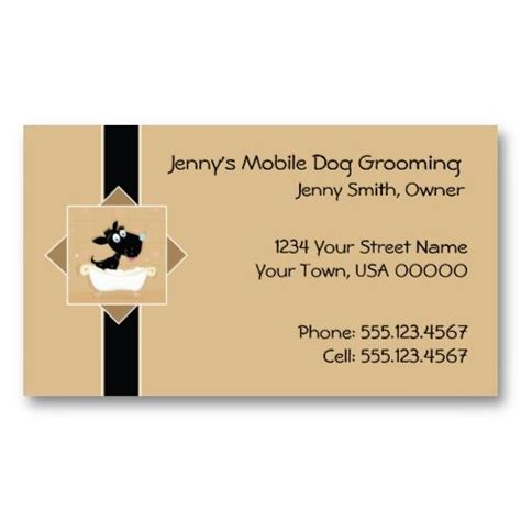 Grooming Business Card Templates by 21 Best Pet Grooming Business Cards Images On