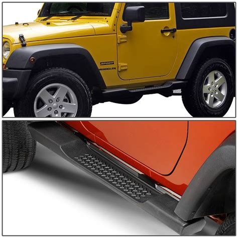 Step Bars For Jeep Wrangler 07 16 Jeep Wrangler Jk 2 Door Pair Of Oe Style Side Step