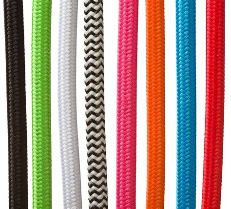 black and white multi colored braided cloth covered