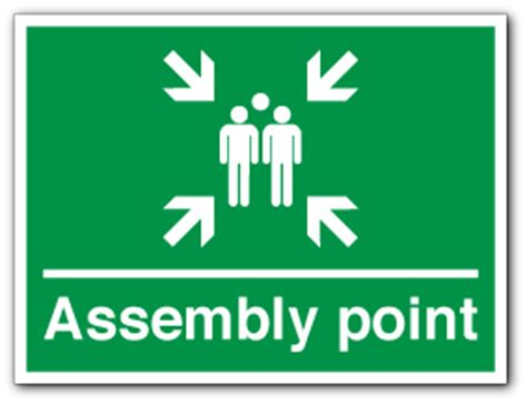 Muster Point Assembly Point And Muster Point Symbol Direct Signs