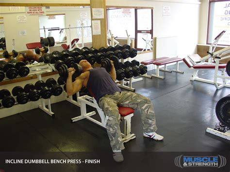 incline bench press tips incline dumbbell bench press video exercise guide tips