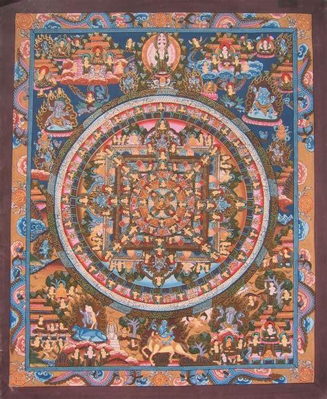 asian inspired home decor from nepal buddhist mandala thangka hand made tibetan thangkas by tibetan artisans in tibet